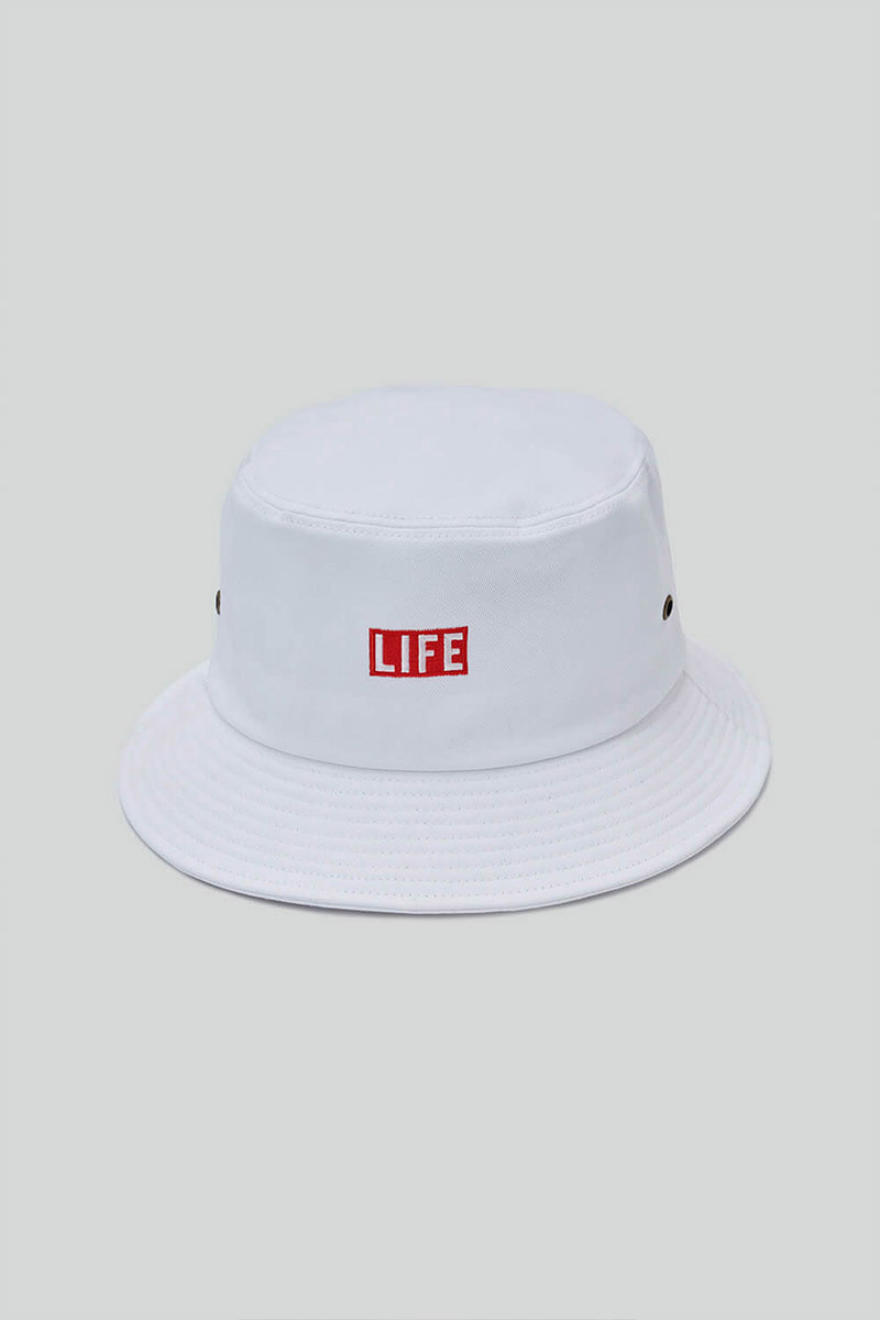 LIFE BUCKET HAT_WHITE