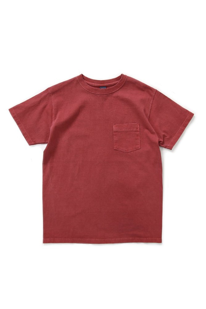 Crew Neck Pocket T-shirts/P-F.Red