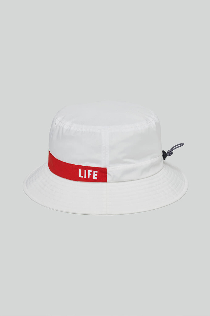 LIFE STRING BUCKET HAT_WHITE