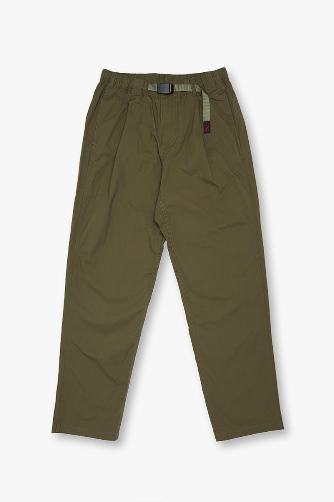 WEATHER TUCK TAPERED PANTS OLIVE