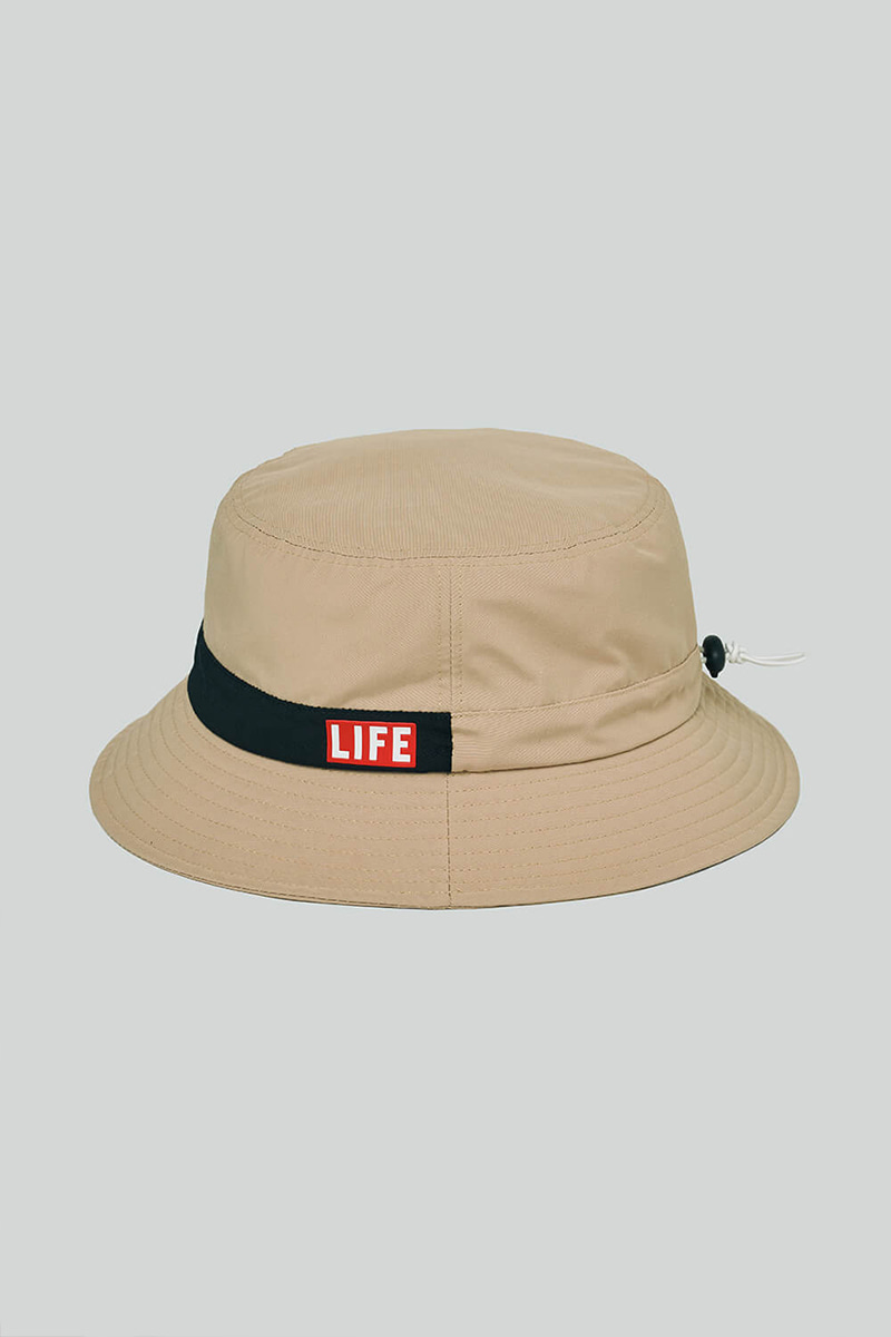 LIFE STRING BUCKET HAT_BEIGE