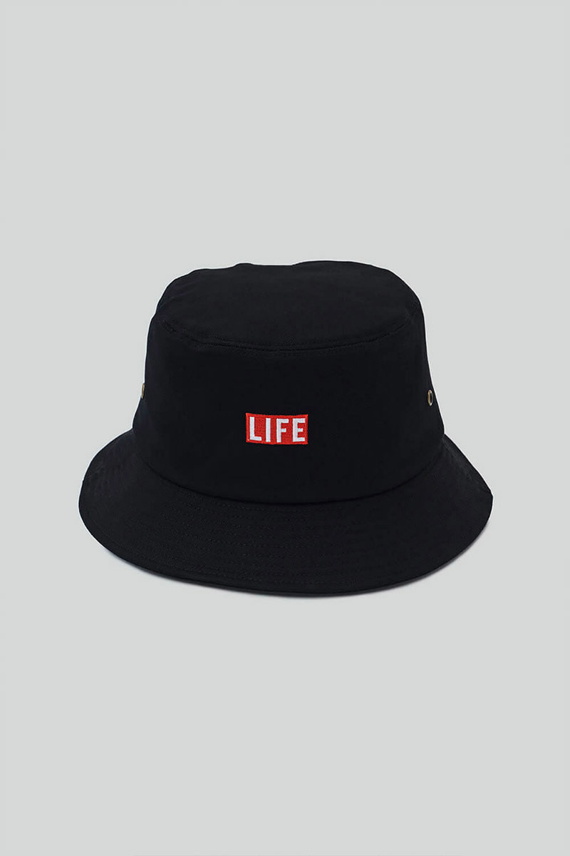 LIFE BUCKET HAT_BLACK