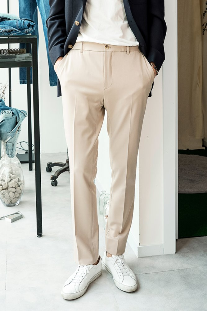 TRAVEL TROUSERS - IVORY