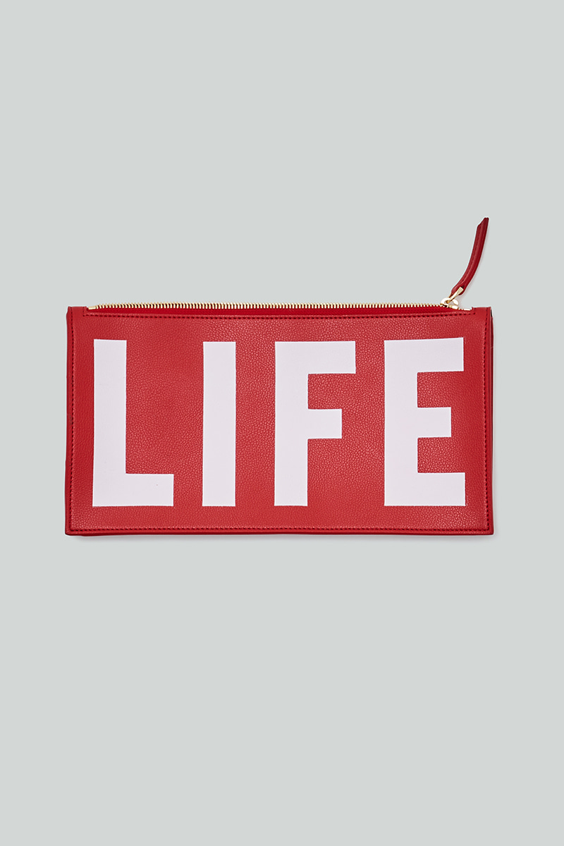 LIFE LOGO CLUTCH_LIFE RED