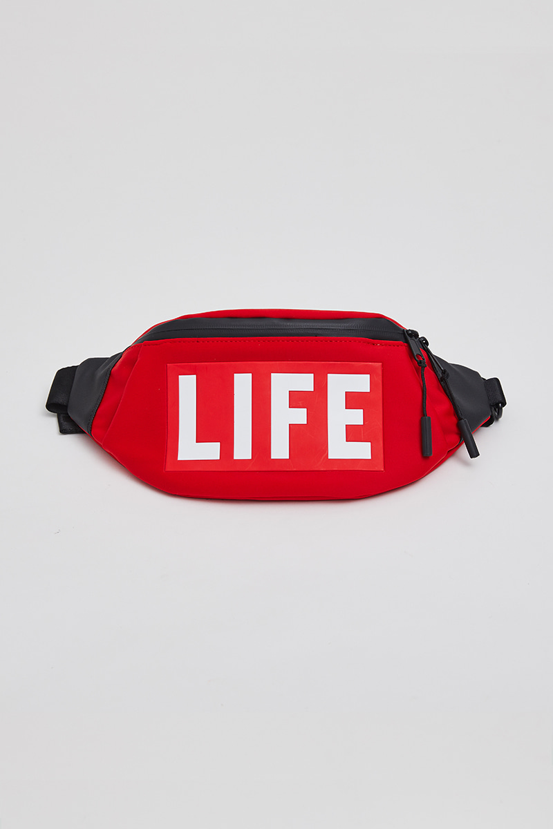 LIFE SMALL HIPSACK_LIFE RED