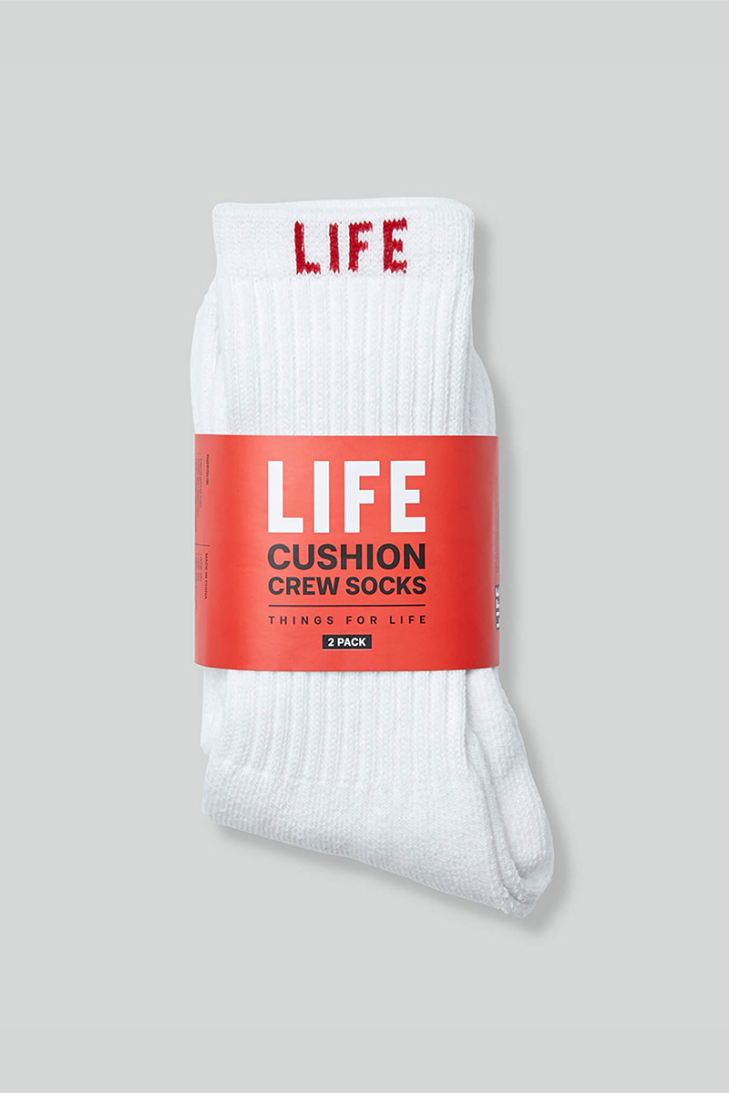 LIFE CUSHION CREW SOCKS_LETTER PACK