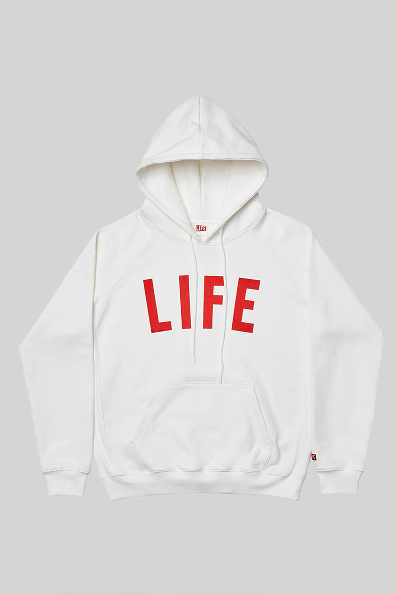 LIFE LETTER HOODIE_WHITE