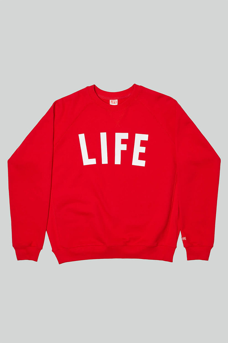 LIFE LETTER SWEATSHIRT_RED