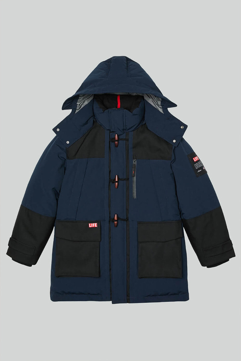 LIFE DUFFLE DOWN UTILITY PARKA_NAVY