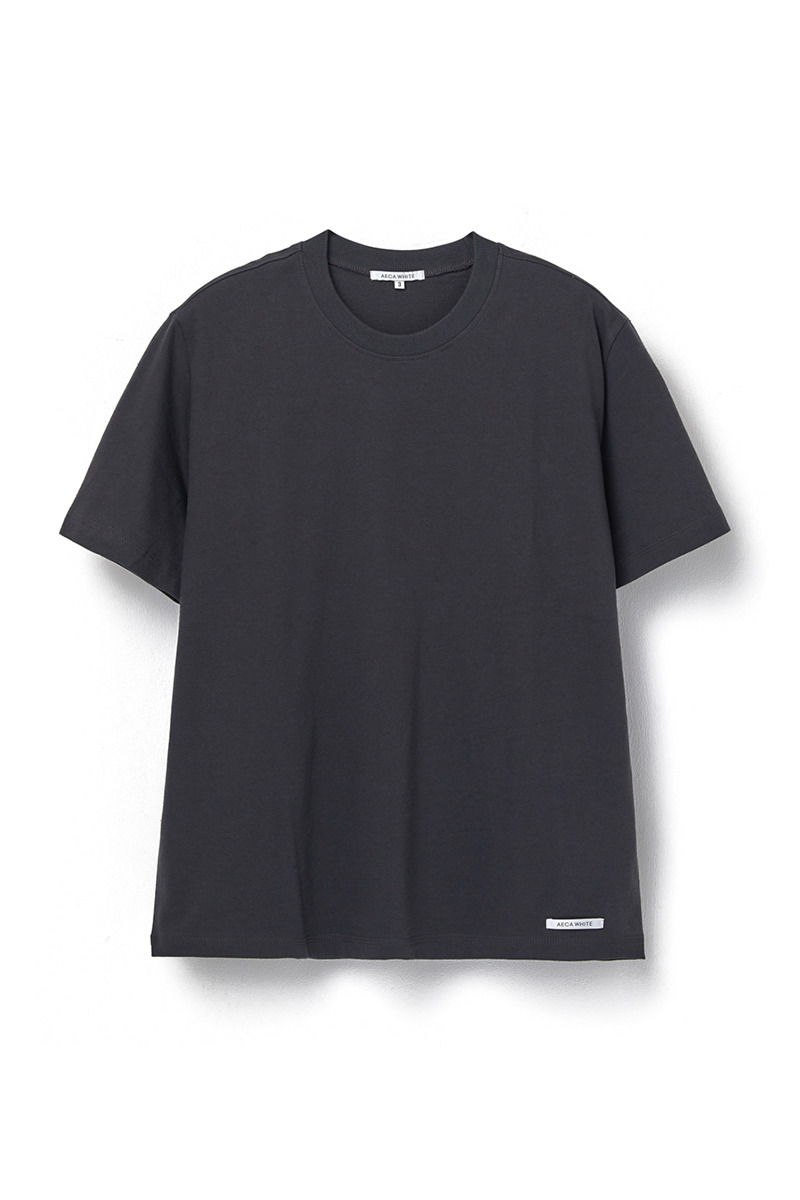 FINEST COTTON HALF SLEEVE TEE CHARCOAL