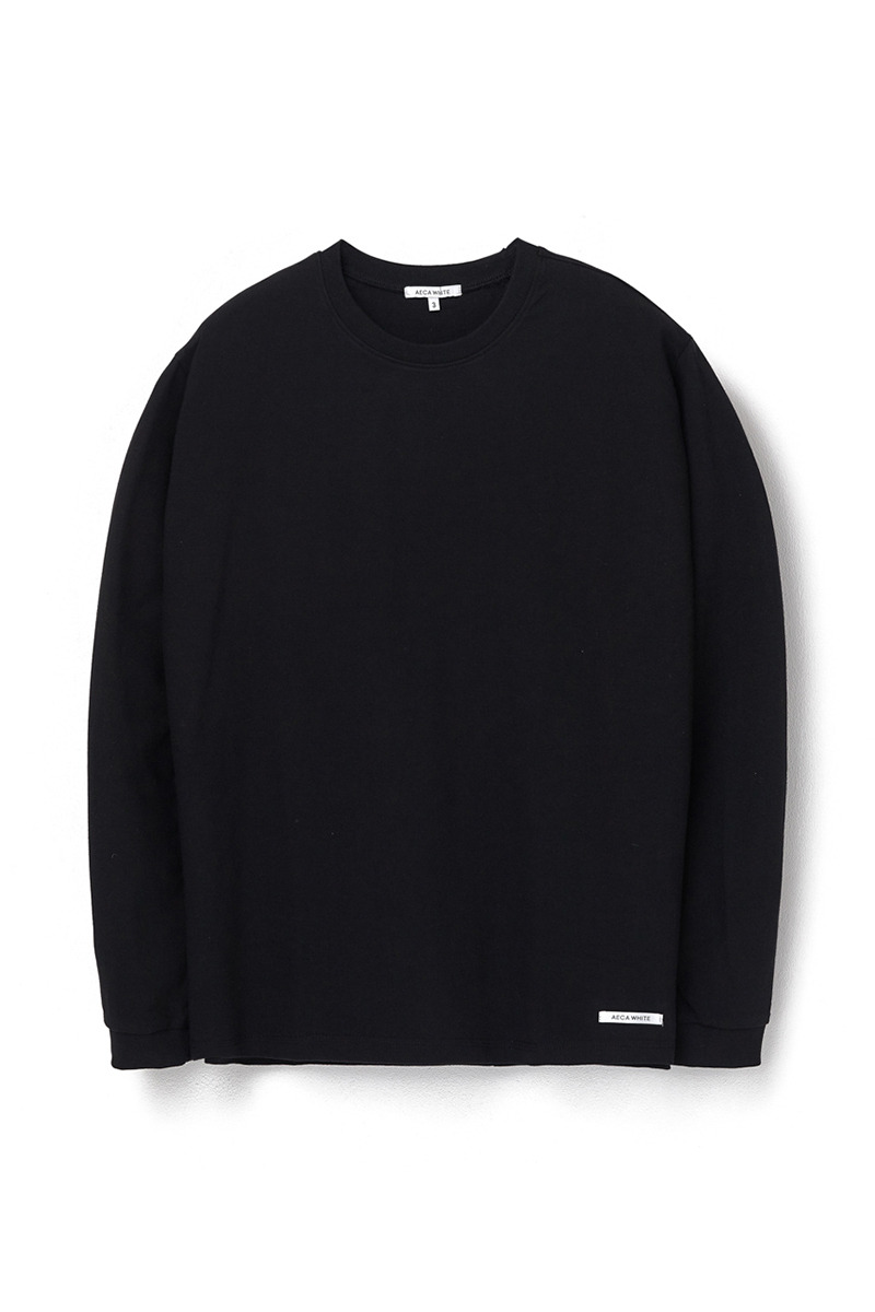 FINEST COTTON LONG SLEEVE TEE BLACK
