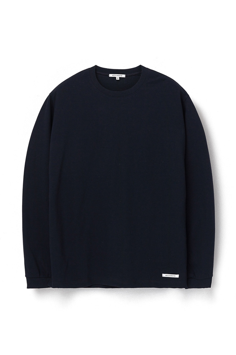 FINEST COTTON LONG SLEEVE TEE DEEP NAVY