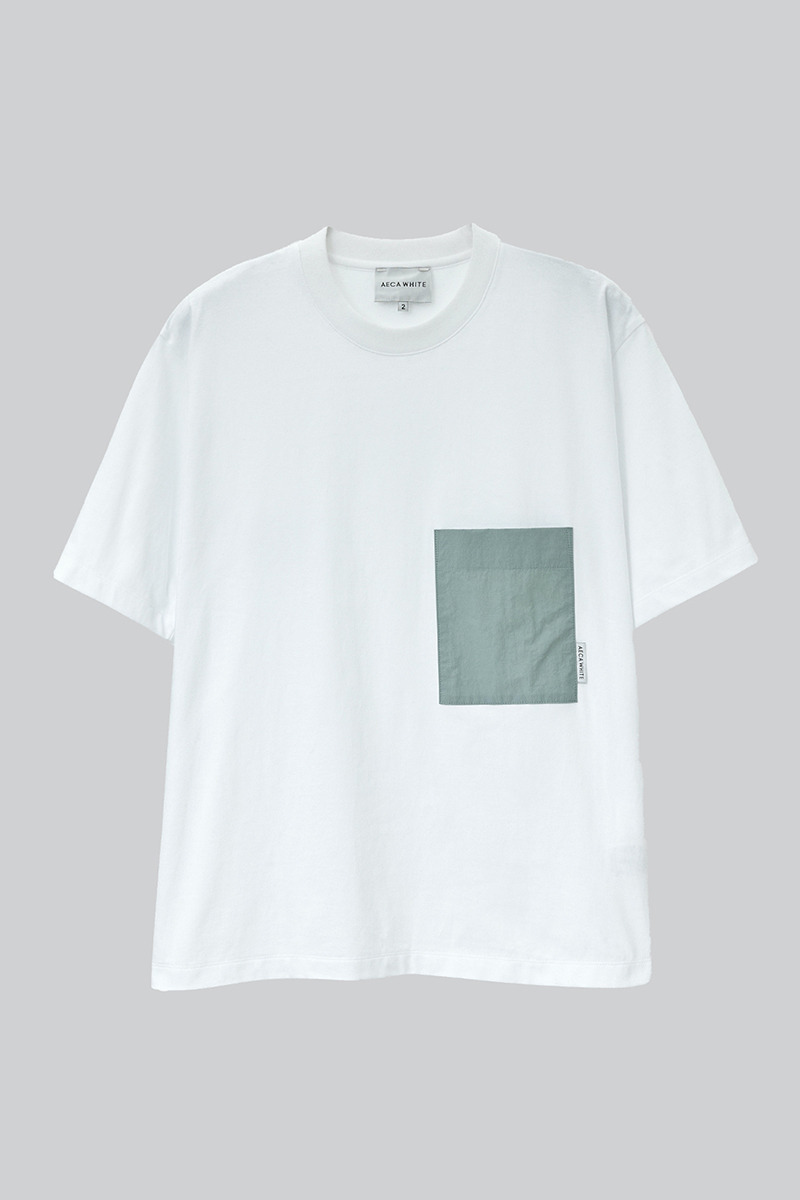 OVERSIZE BIG POCKET TEE WHITE