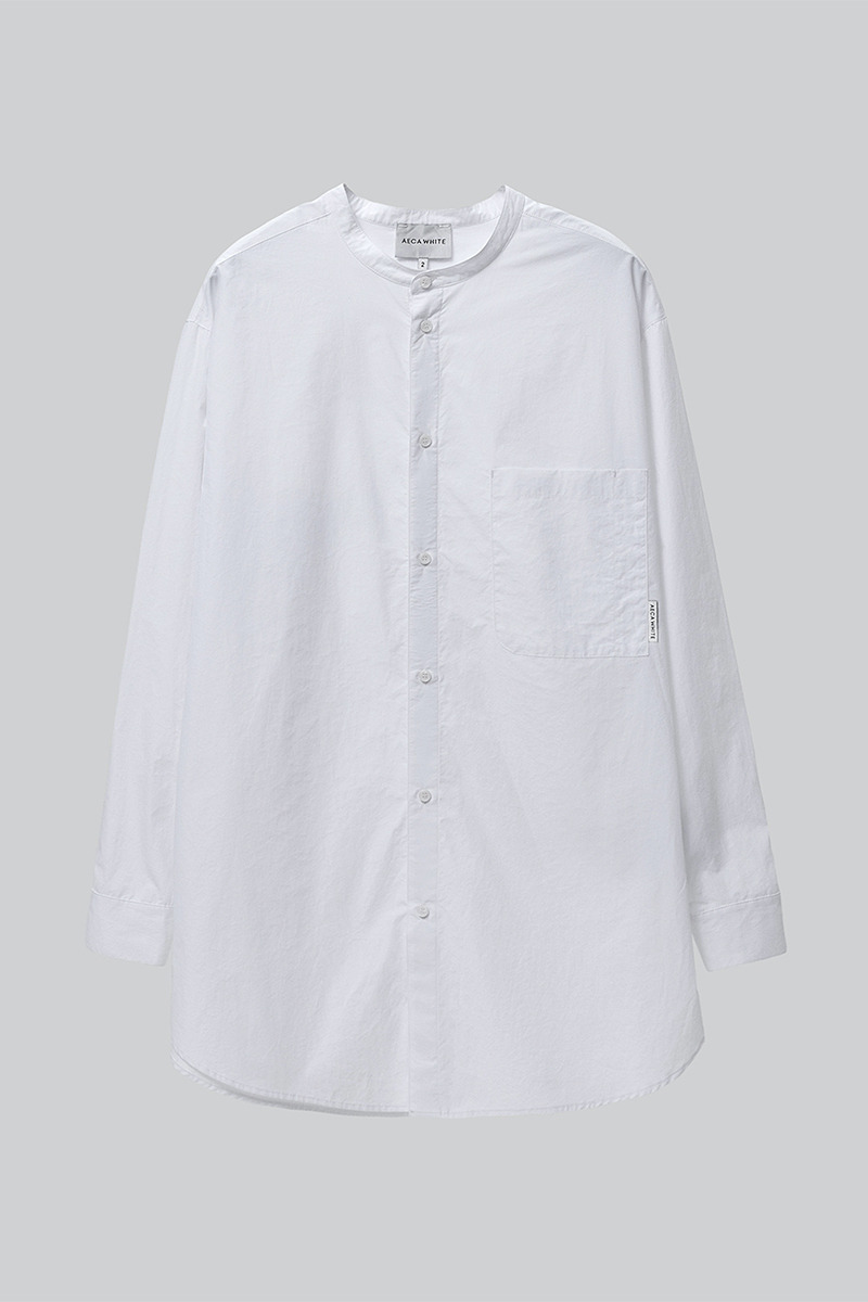 RELAXED LONG SHIRT WHITE