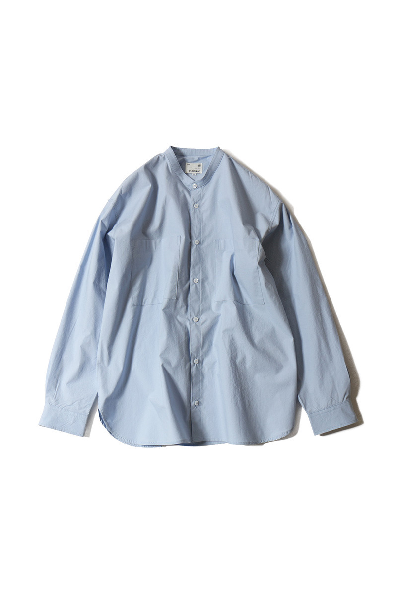 20SS Success Extra Typewriter Stand Collar Shirts Sky Blue