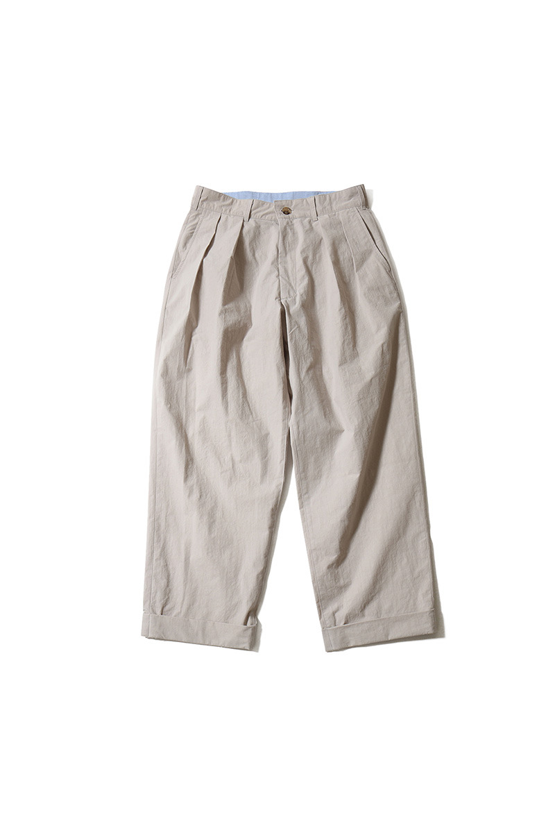 20SS Laurier Typewriter Water Repellent Wide Pants Gray Beige