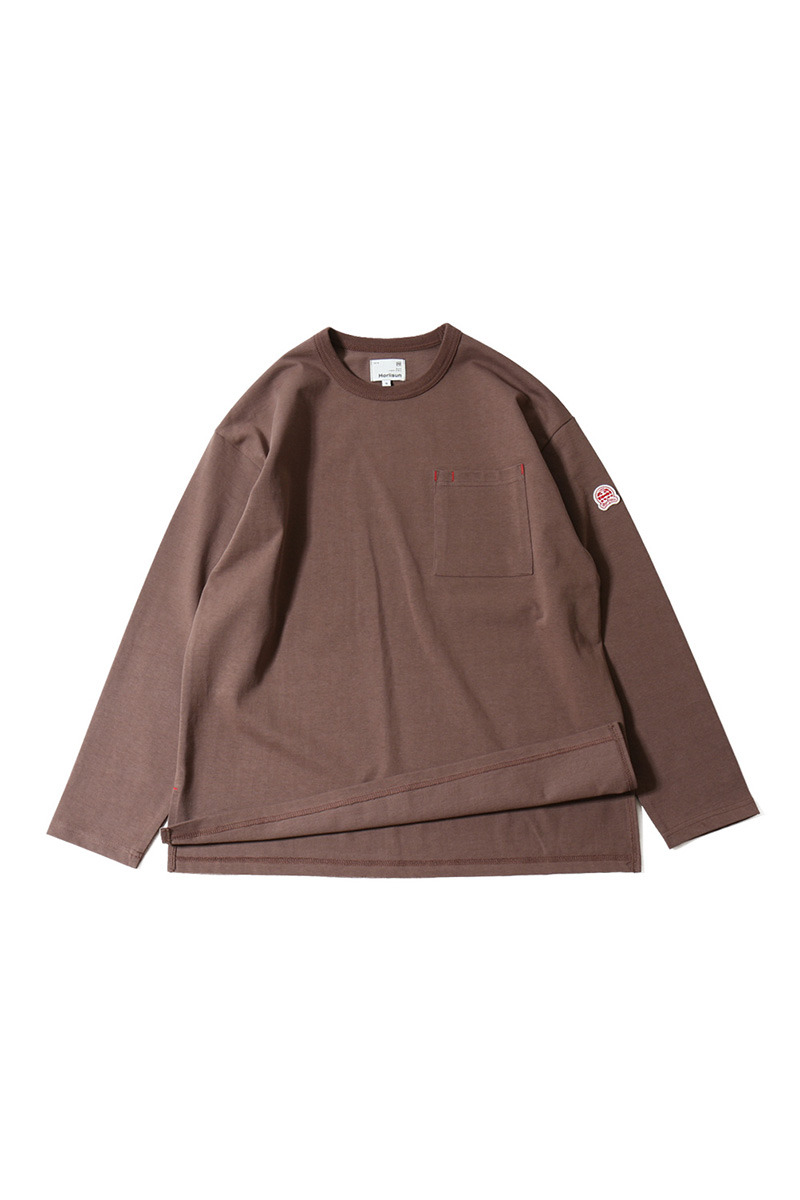 20SS Lawrence Overfit Long Sleeve Pocket T-shirts Mauve
