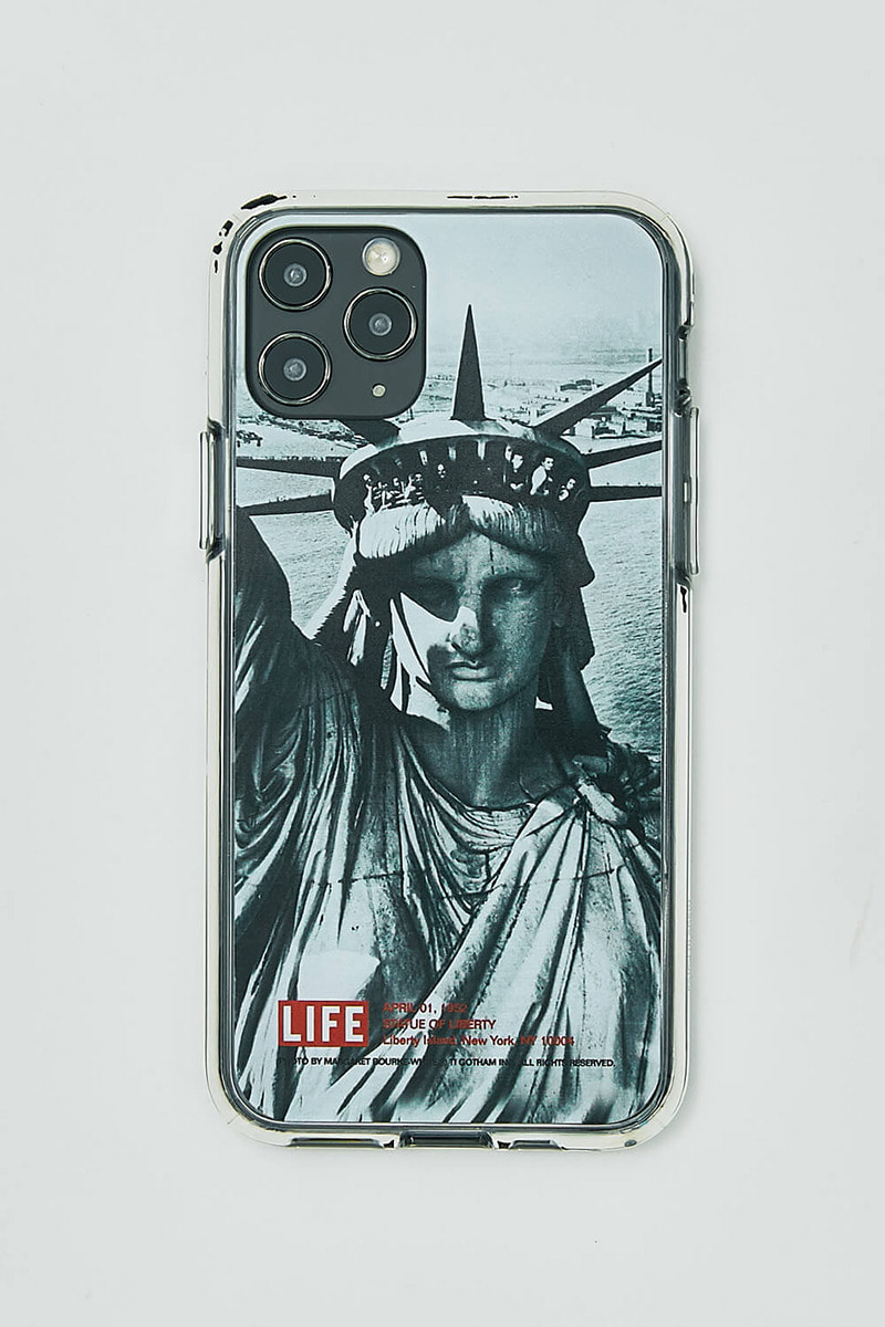 LIFE LIBERTY STATUE GEL HARD PHONE CASE